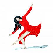 Dancer Paintings - Scarlet Dancer by Richard Roselli