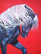 Equine Paintings - Scarlet by Gill Bustamante