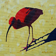 Yellow Beak Painting Metal Prints - Scarlet Ibis Metal Print by Donald Amorosa