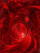 Red Rose Digital Art - Scarlet Luminance by Paul St George