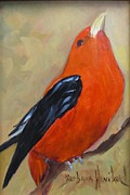 Tanager Originals - Scarlet Tanager Bird by Barbara Haviland