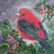 Tanager Originals - Scarlet Tanager by Karen Bradley