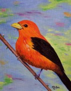 Tanager Originals - Scarlet Tanager by Lisa Rose Musselwhite