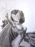 Superheros Drawings - Scarlet Witch by Luis Carlos Alvarado