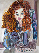 Iron Man Painting Originals - Scarlett Johansson - V05 by John Kelting