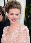 Updo Posters - Scarlett Johansson At Arrivals For The Poster by Everett