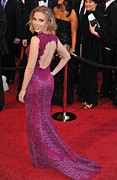 Purple Dress Posters - Scarlett Johansson Wearing Dolce & Poster by Everett