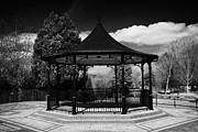 Bandstand Prints - Scarva Victorian Bandstand In Village County Down Northern Ireland Print by Joe Fox