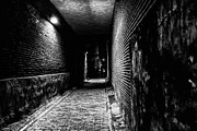 First Friday Prints - Scary Dark Alley Print by Louis Dallara