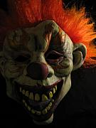 Scary Clown Posters - Scary Poster by Kim Pascu