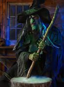 Haunted House Photos - Scary Old Witch by Oleksiy Maksymenko