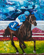 Kentucky Derby Painting Originals - Scat Daddy by Dani Altieri Marinucci