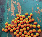 Peeled Prints - Scattered Tangerines Print by Sarah Palmer