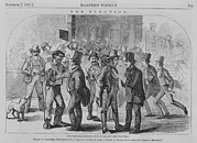 Voters Prints - Scene At New York Citys Naturalization Print by Everett
