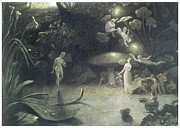 Midsummer Prints - Scene from a Midsummer Nights Dream Print by Francis Danby