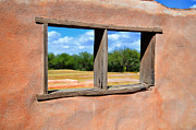 Mission San Javier Del Bac - Scene From a Priests Window by Donna Van Vlack