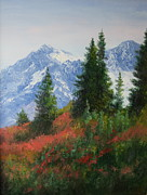 Snow Capped Originals - Scene in the Cascade Mountains in Washington State by Becky Bragg