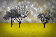 Painted Digital Art Prints - Scenery-Art Landscape Print by Melanie Viola