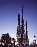 Folk Art Photos - Scenes Of Los Angeles, Watts Towers by Everett