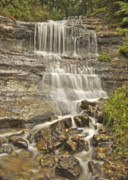 Michigan Waterfalls Prints - Scenic Alger Falls  Print by Michael Peychich