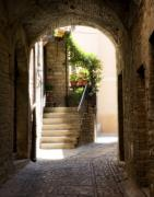 Cobblestone Prints - Scenic Archway Print by Marilyn Hunt