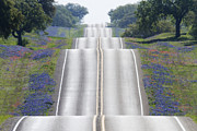 Blue Bonnets Prints - Scenic Country Road Print by Jeremy Woodhouse