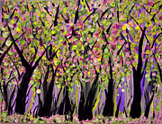 Tree Blossoms Paintings - Scenic Fantasyland by Suzeee Creates