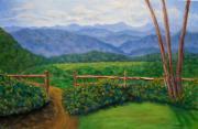 Scenic Overlook Print by Sandy Hemmer