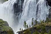 Scandanavia Framed Prints - Scenic Remote Waterfall Framed Print by Ralph Lee Hopkins