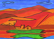 Finance Painting Originals - Scenic by Seshadri Sreenivasan