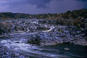 River Views Posters - Scenic View Of Great Falls Poster by Kenneth Garrett