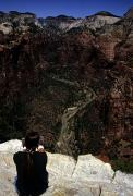 Rock Angels Prints - Scenic View Of Zion National Park Print by Stacy Gold