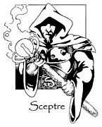 Merlin Posters - Sceptre Poster by John Haldane
