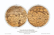 Schiaparelli's Map Of Mars, 1877-1888 Print by Detlev Van Ravenswaay