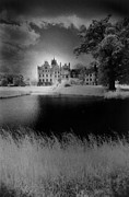 Light And Dark   Framed Prints - Schloss Basedow Framed Print by Simon Marsden