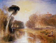 Fishing Painting Posters - Schloss Rosenau Poster by Joseph Mallord William Turner