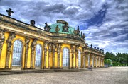 Berlin Germany Framed Prints - Schloss Sanssouci     Berlin Framed Print by Jon Berghoff