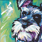 Modern Dog Art Paintings - Schnauzer  by Lea