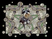 Puppies Digital Art Metal Prints - Schnauzers Metal Print by Tisha McGee
