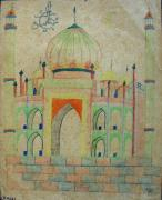 Tomb Drawings - School 1961 - 144 by Mohd Raza-ul Karim