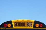 Rooftop Photos - School Bus Rooftop by Skip Nall