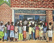 School Class Burkina Faso Series Print by Reb Frost