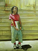 African-american Paintings - School Daze by Curtis James