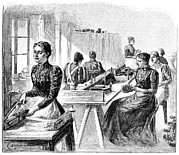 French School; (19th Century) Metal Prints - School For The Blind, 19th Century Metal Print by