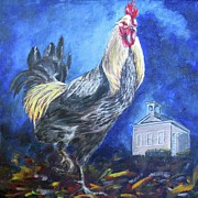 Grande Painting Framed Prints - School House Chicken Framed Print by Karen  Peterson