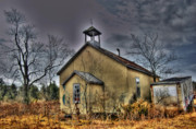 Abandoned School House. Framed Prints - School House Framed Print by Richard Couper