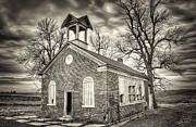 Black And White Photos - School House by Scott Norris