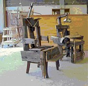 Chair Sculpture Framed Prints - School is Torture Framed Print by Casey Park