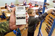 Gamma Rays Prints - School Radiation Levels Near Chernobyl Print by Ria Novosti