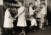 Pose Prints - School Store, 1917 Print by Granger